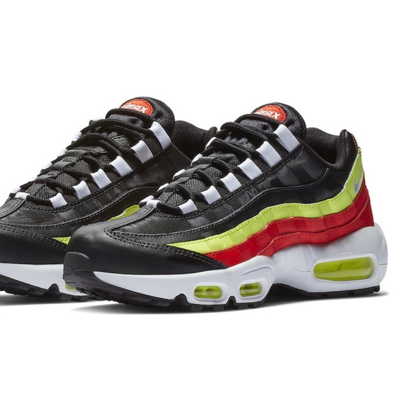 detailed look 294c2 79ab7 Air Max 95 Black/Red/Neon Green Women's 8.5